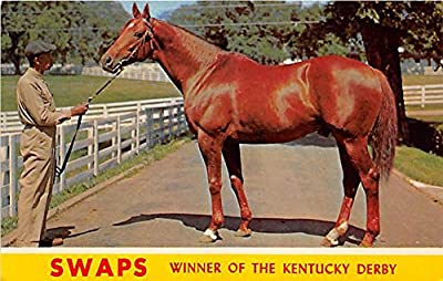 Swaps, Winner of the Kentucy Derby Lexington, Kentucky, KY, USA Old Vintage Horse Racing Postcard Post Card