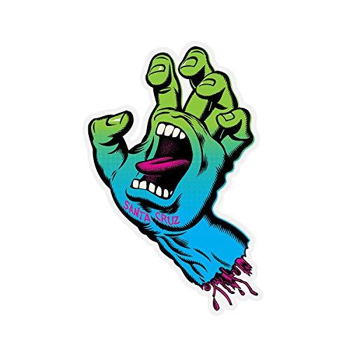 - Santa Cruz Skateboard Neon Hand Clear Mylar Decal Green/Blue Fade 2