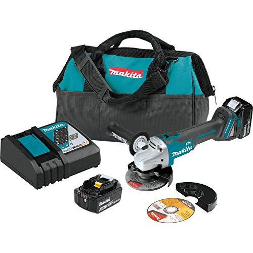 Makita XAG04T 18V LXT Lithium-Ion Brushless Cordless 4-1/2 inch/5 inch Cut-Off/Angle Grinder Kit
