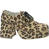 Men's Leopard Platform Costume Shoes (Shoe Size 12-13)