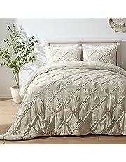 SEMECH Pinch Pleat Comforter Set, Ultra-Soft Microfiber Bedding Comforter Set