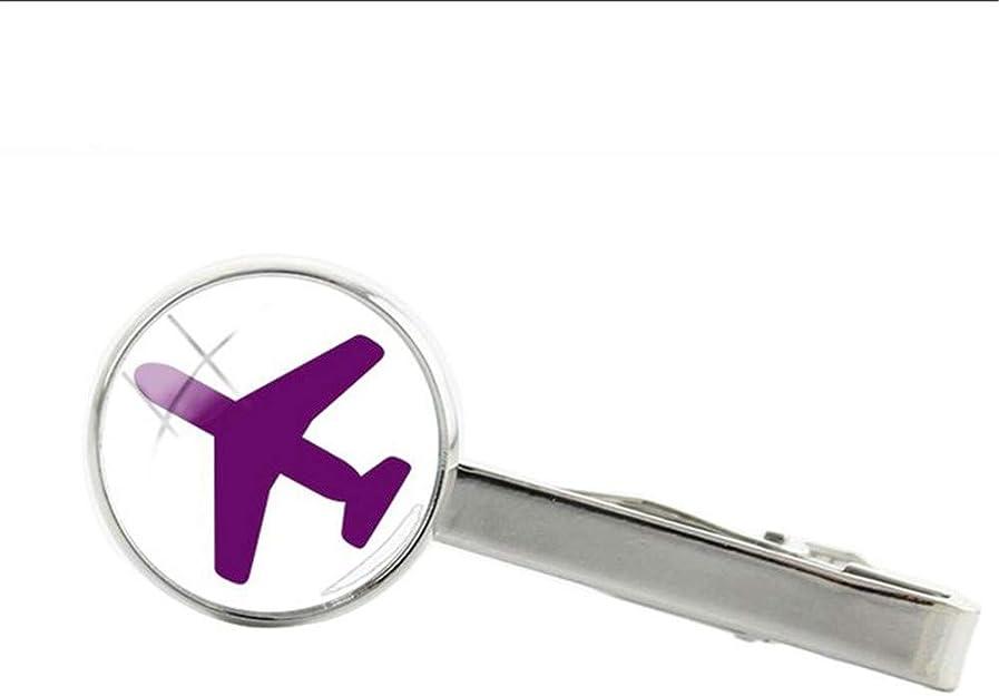 Clip corbata Yuan Ou Rosa Negro Avión Tie Clip Aviones Clips Vuelo ...