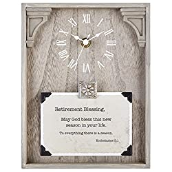 CB Gift Heartfelt Collection Framed Table Clock with Sentiment, 7 x 9, Retirement-Ecclesiastes 3:1