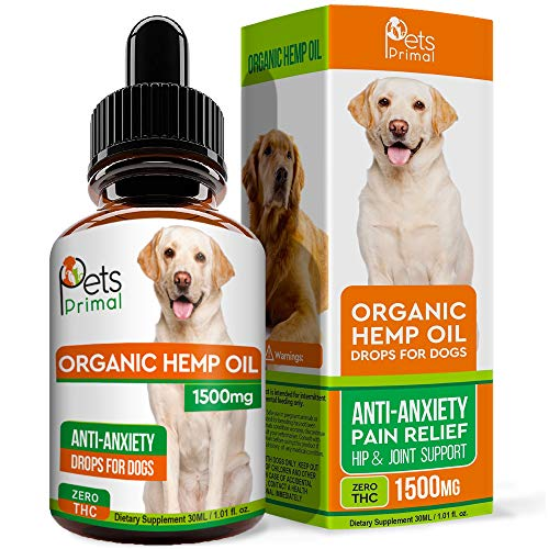 Pets Primal Hemp Oil for Dogs & Cats - Supports...