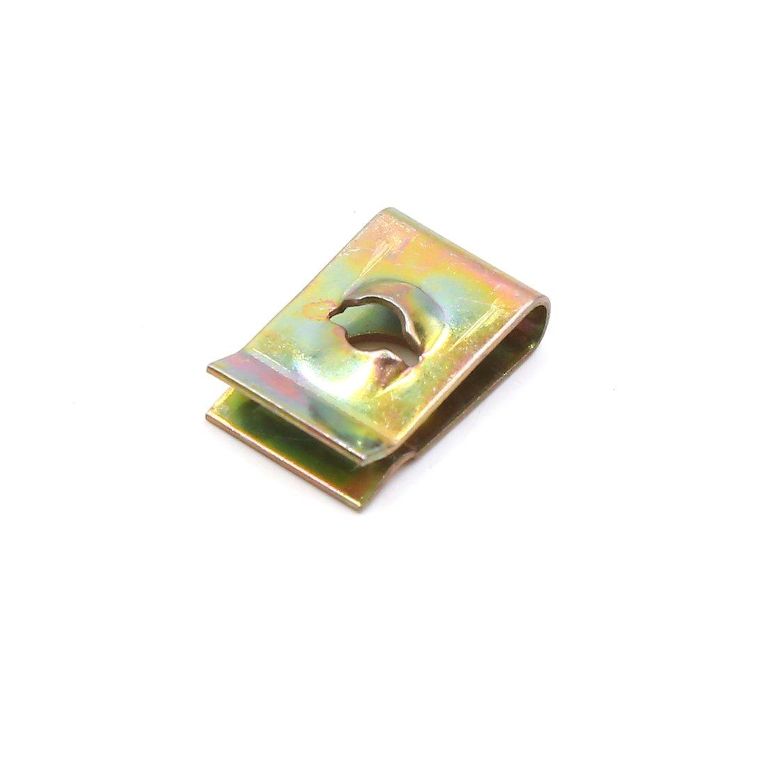 sourcingmap/® 20stk 3mm Loch Feder Blechmutter Sicherungsschraube U-Typ Clips Nieten 17x11x5mm de