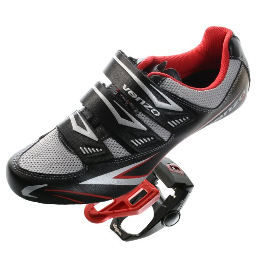 Venzo Road Bike For Shimano SPD SL Look Cycling Bicycle Shoes & Pedals (Road Cycling Shoes)