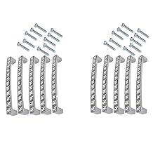 abcGoodefg® Europe Style Rhinestone Crystal Furniture Door Drawer Pull Handle Cabinet Pull Handle Kitchen Knobs (64MM Pack of 10)