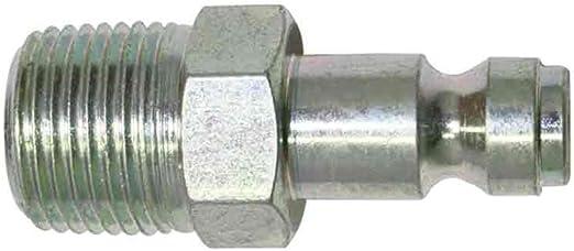 CPA461 Automotive Steel Coupler Plug 1//4 Inch x 3//8 Inch Male NPT