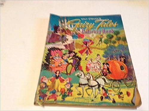 WALT DISNEYS FAIRY TALES COLORING BOOK FROM 1959 Walt Disney Amazon Books