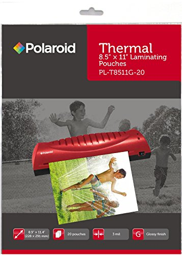 polaroid-thermal-laminating-pouches-89-x-114-inches-3-mil-thick-20-pack
