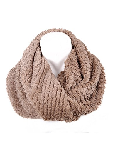 Soul Young Women's Neck Warmer Faux Fur Infinity Loop Circle Scarf