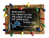 NFL Detroit Lions Resin Chalkboard Sign Ornament, Blue, One Size