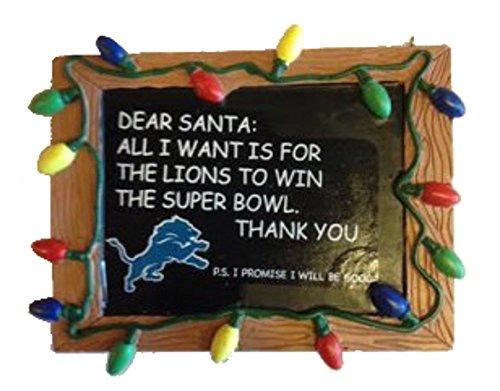 Detroit Lions Resin Chalkboard Sign (Detroit Lions Sign)