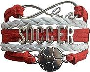 Soccer Gifts- Soccer Bracelet, Soccer Jewelry, Adjustable Soccer Charm Bracelet- Perfect Soccer Gifts for Girl