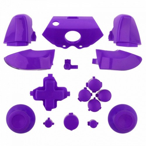 ModFreakz™ Full Button Set Thumbsticks Solid Purple For Xbox One Model 1537 Controllers