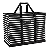 SCOUT 4 Boys Bag, Extra Large, Durable All Purpose Foldable Utility Tote, Folds Flat, Water Resistant, Zips Closed, Fleetwood Black