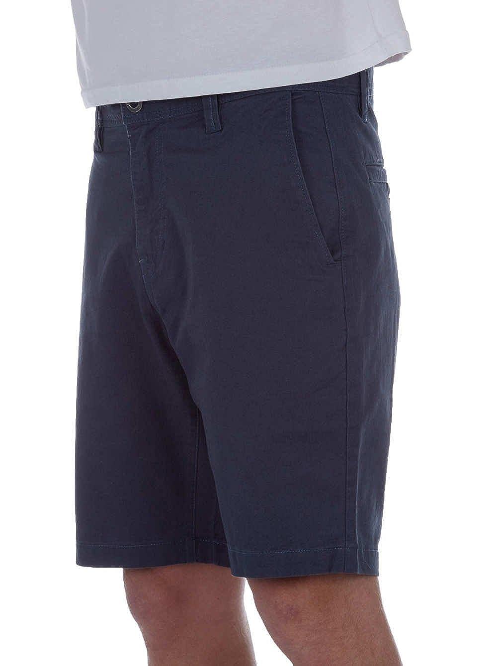 TALLA 30. Volcom Frickin Slim Chino Short Azul Pantalones Cortos para