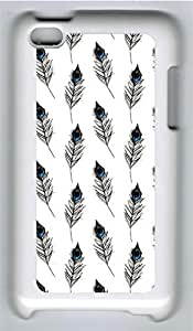 iPod 4 Case, iPod 4 Cases - Peacock Feathers Pattern PC Polycarbonate Hard Case Back Cover for iPod 4¨CWhite