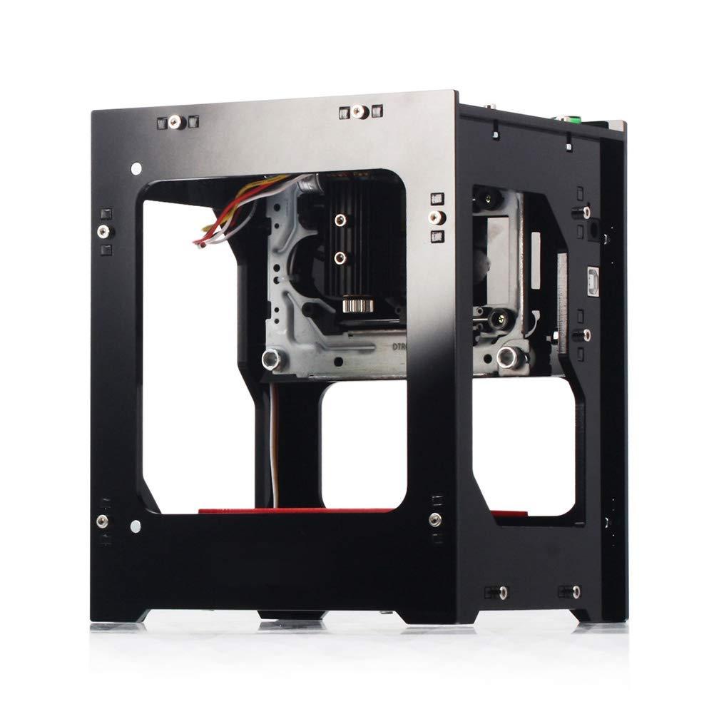 Zyyini NEJE 3000mW Stampante La-Ser Engraver Acrilico 490x490 Pixel USB Mini Macchina per incisioni Router di CNC Taglio off-Line Funzionamento Stampante incisa per Carta di Legno Design Fai da Te