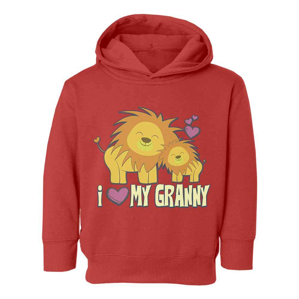 Cute Lions I Love My Granny Graphic Youth /& Toddler Hoodie Sweatshirt