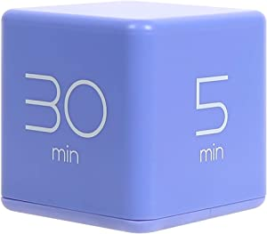 mooas Cube Timer 5, 10, 20 and 30 Minutes Time Management (Violet), Kitchen Timer, Kids Timer, Workout Timer