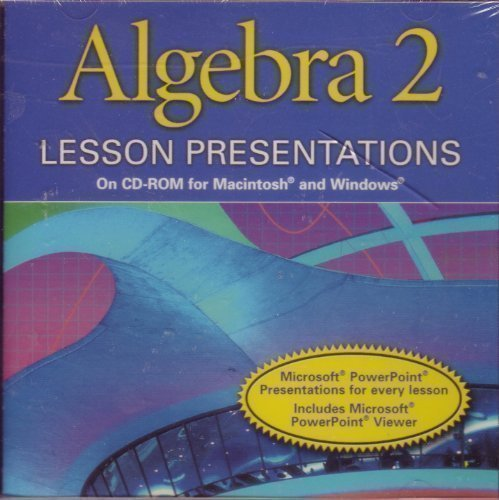 Download Lesson Presentations on CD-R Alg 2 2001 pdf