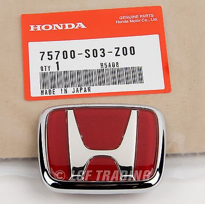 (Authentic OEM JDM Honda Civic EK9 Type-R Emblem Front 75700-S03-Z00)