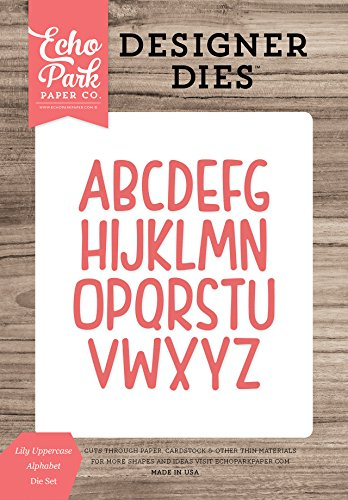 Echo Park Paper Company Lily Uppercase Alphabet Die ()