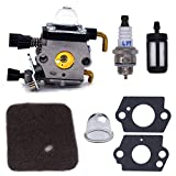 FitBest Carburetor for Stihl FS38 FS45 FS46 FS55 FS74 FS75 FS76 FS80 KM85 Trimmers with Spark Plug + Fuel Filter + Air Filter+Primer Bulb + Gasket