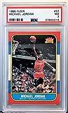 Michael Jordan 1986 Fleer Basketball Rookie Card #57 PSA Graded NM 7 27604219