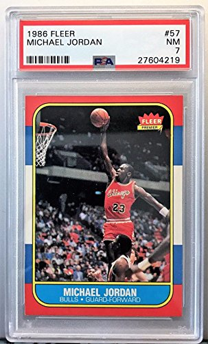 - Michael Jordan 1986 Fleer Basketball Rookie Card #57 PSA Graded NM 7 27604219