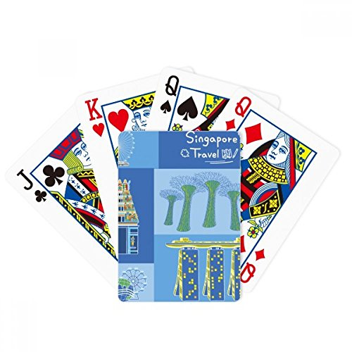 beatChong Singapore Travel Landmark Poker Playing Card Tabletop Board Game Gift by beatChong