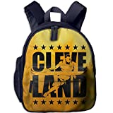Cleveland Basketball Yellow Kids Backpack Preschool Boys Girls Toddler School Bags