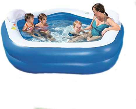 LUSHUN Piscina Inflable para niños, 210X150X68cm Piscina Hinchable Familiar Swim Center, iscina De Bolas Marinas, Dos respaldos con Dos portavasos: Amazon.es: Deportes y aire libre