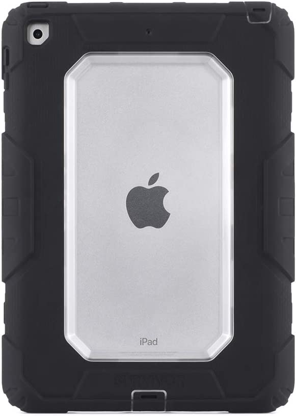 Griffin Technology iPad 9.7 (2017) Rugged case, Survivor All-Terrain with Stand, 4 Layers of Protection, 8ft Drops, Black/Clear