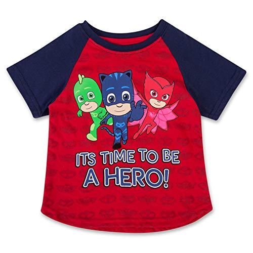 PJMASKS PJ Masks Short Sleeve T-Shirt Catboy, Owlette, Gekko Short Sleeve Group T-Shirt (Red/Blue, -