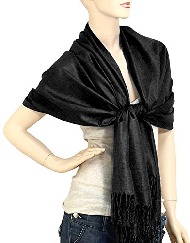 Falari Women's Solid Color Pashmina Shawl Wrap Scarf 80