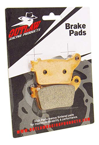 (Outlaw Racing OR436 Rear Brake Pads HONDA CBR600RR 2007-2015 CBR1000RR 2006-2015)