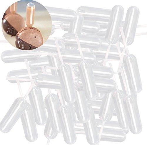 100 pipette di trasferimento in plastica pipetta 4 ml contagocce monouso cannuccia tazza torta gelato