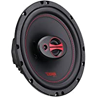 DS18 GEN-X6.5 6.5 Inch 150 Watts 3-Way Coaxial Speakers with Mesh Grills 4-Ohms - sold As A Pair of 2