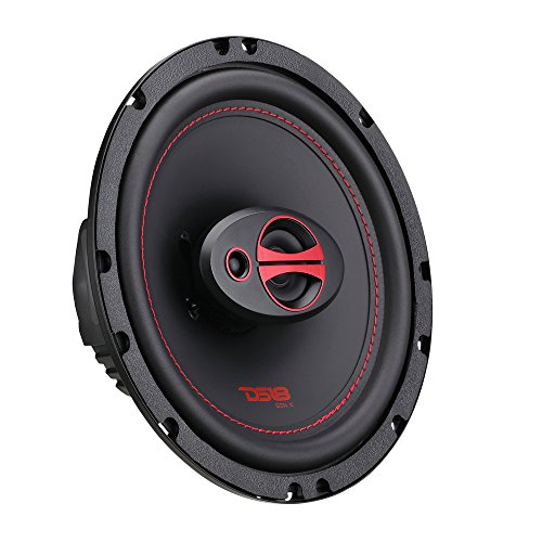 """DS18 GEN-X6.5 Coaxial Speaker - 6.5"""", 3-Way, 165W Max, 50W RMS, Black Paper Cone, Two Mylar Dome Tweeters, 4 Ohms - Clarity Unparalled by Other Speakers in Their Class (2 Speakers)"""