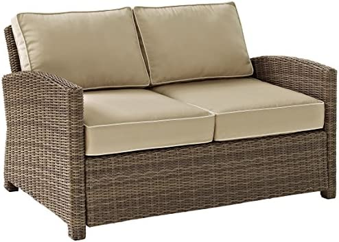 Crosley Furniture KO70022WB-SA Bradenton Outdoor Wicker Loveseat