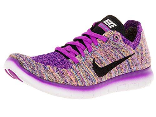 Nike Wmns Free Rn Flyknit, Zapatillas de Running Para Mujer Morado (Hyper Violet / Blk-Gmm Bl-Cncrd)
