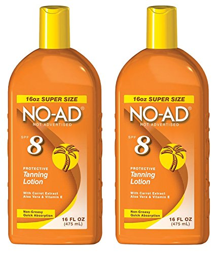 NO-AD 8 Protective Tanning Lotion, SPF 8 16 fl oz