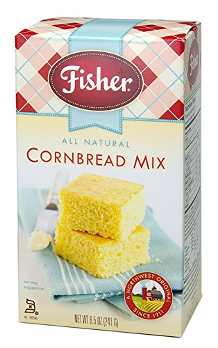 Fisher All Natural Cornbread Mix, 8.5-Ounce (Pack of 10)