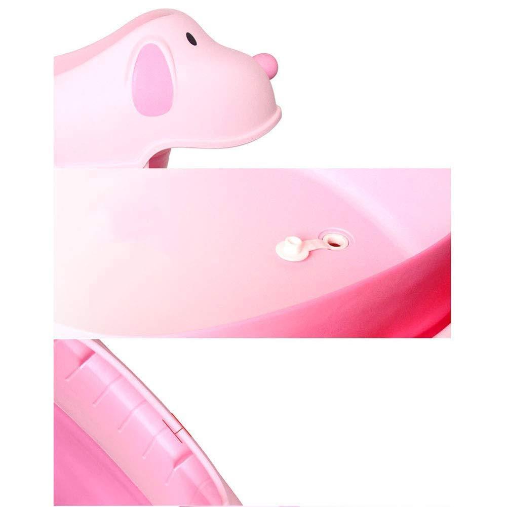 Children Safe Portable Foldable Bathtub, 29x21inch - Baby Bath Tub Kids Bath Tub Can Sit Lying Bath Tub for 6 Months to 10 Years Old Children (Pink) by Finebaby (Image #6)