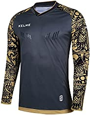 KELME Kids Padded Goalie Shirt, Youth Goalkeeper Jersey, Long Sleeve Turf Training Soccer Uniform