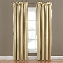 "Eclipse Hayden Solid Blackout Window Curtain Panel, 42"" x 84"", Gold"