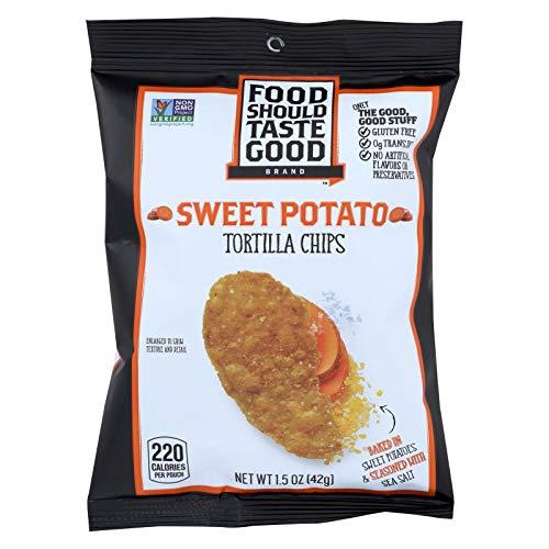 Food Should Taste Good, Tortilla Chips Sweet Potato, 1.5 - Sweet Potato Snacks
