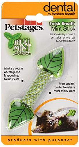 Cat Dental Health Fresh Breath Mint Stick Breath Freshening Cat Toy by Petstages